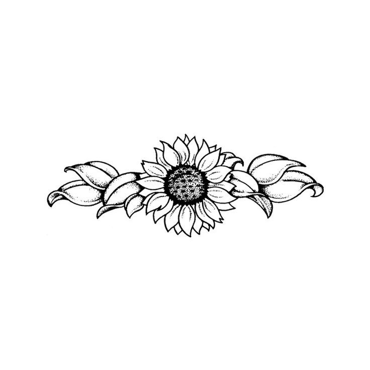 Sunflower Tattoo Black And White Google Search Girly Tattoos Feminine Tattoos Black Tattoos