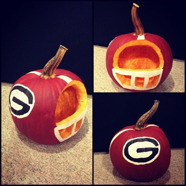Uga Football Helmet Pumpkin Pumpkin Carving Pumpkin Decorating Contest Pumpkin Decorating