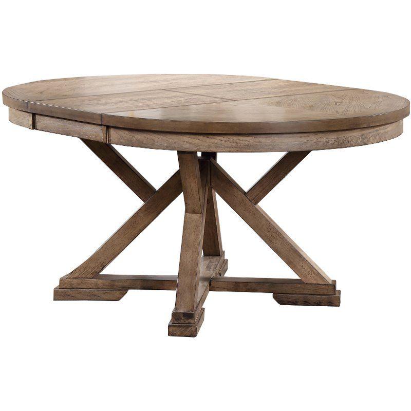 Mushroom Round Dining Table Grandview In 2021 Round Extendable Dining Table Dining Table Oval Table Dining