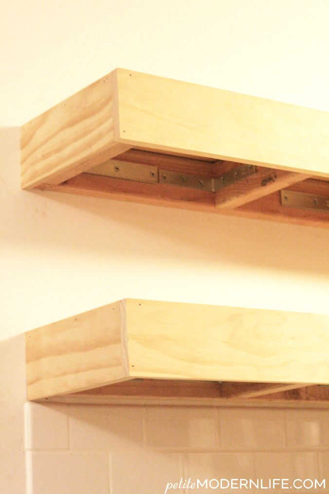 heavy duty floating shelves project list heavy duty floating shelves shelves floating shelves. Black Bedroom Furniture Sets. Home Design Ideas