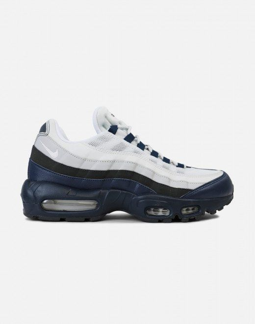 Nike Air Max 95 Essential Armory Navy Anthracite Wolf Grey White Shoes Mens Nike Air Max 95 Nike Air Max