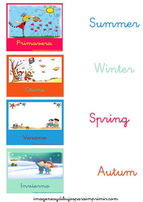 Las estaciones del año en Inglés para aprender-Imagenes y dibujos ...