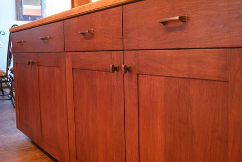 Mission Style Cherry Kitchen Cabinets With Solid Field By Conklin