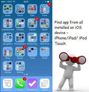 Alternate ways to find app on iPhone, iPad, iPod home