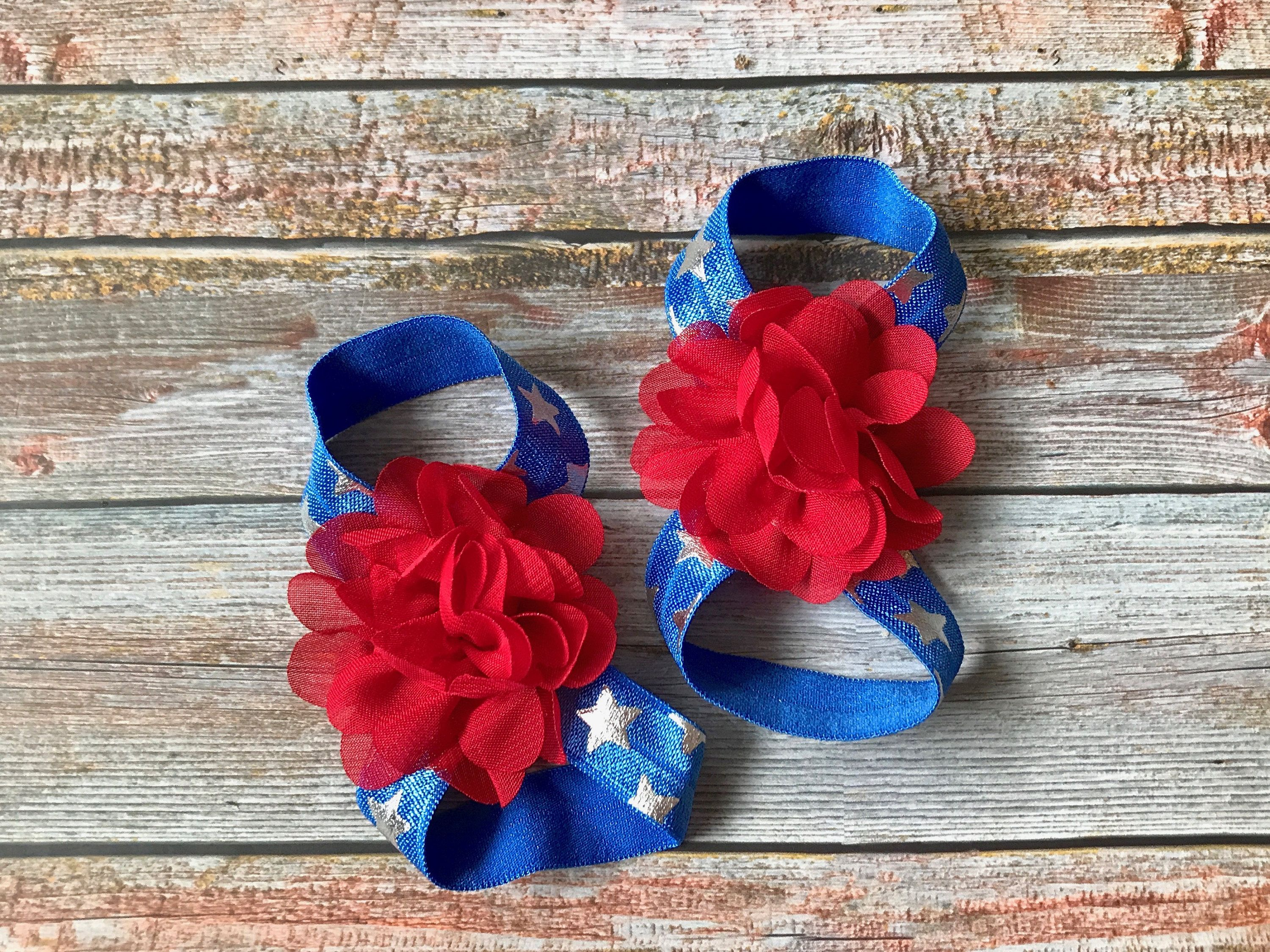 4th of july barefoot sandals,patriotic baby barefoot sandals 4th of july baby sandals baby sandals 4th of July baby barefoot sandals