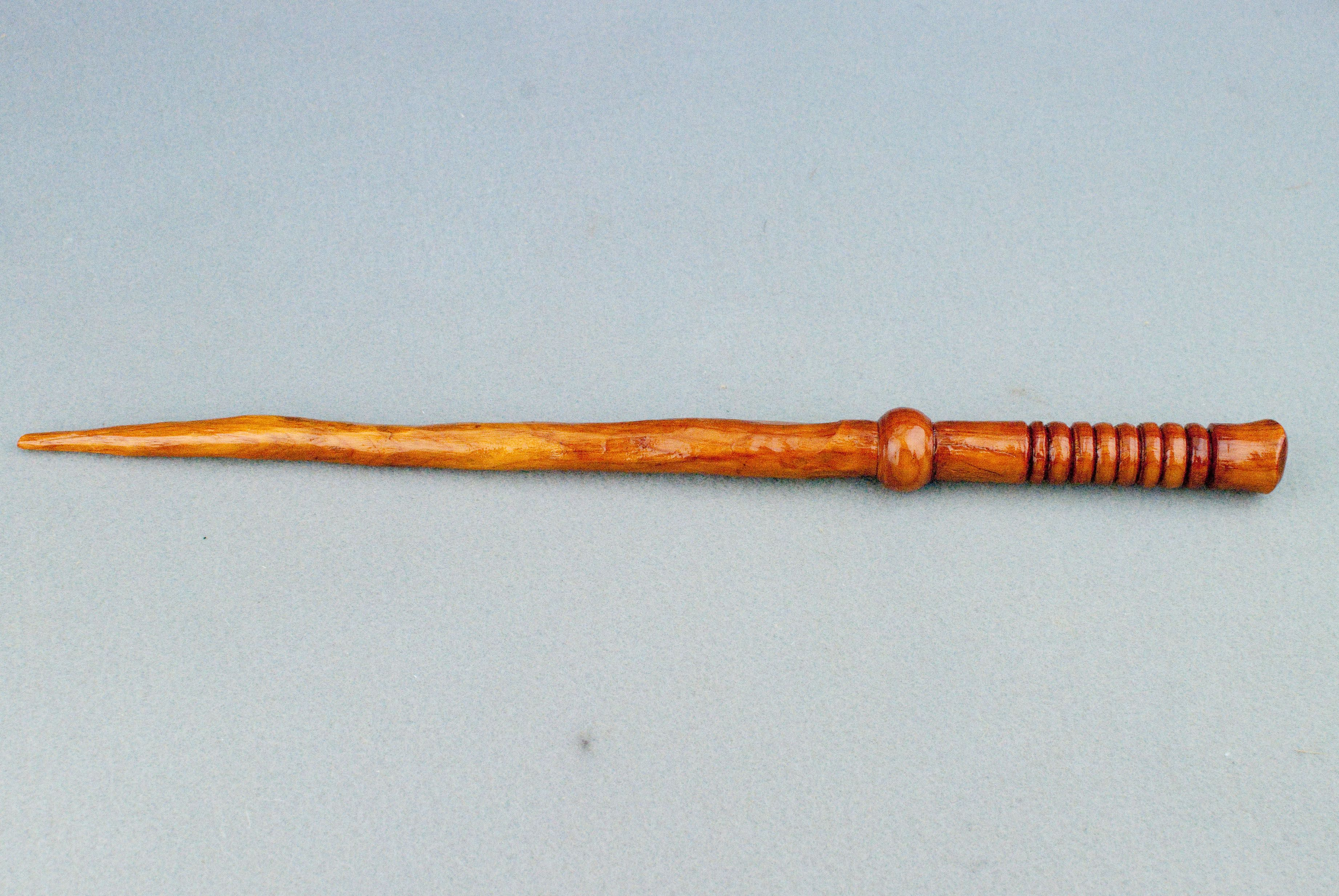 13 1/2 inch,Yew, Phoenix Feather  This custom made wooden magic