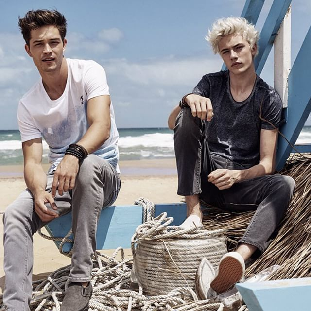 The best two baes doing a photoshoot together! :D #it happened Francisco Lachowski Lucky Blue Smith
