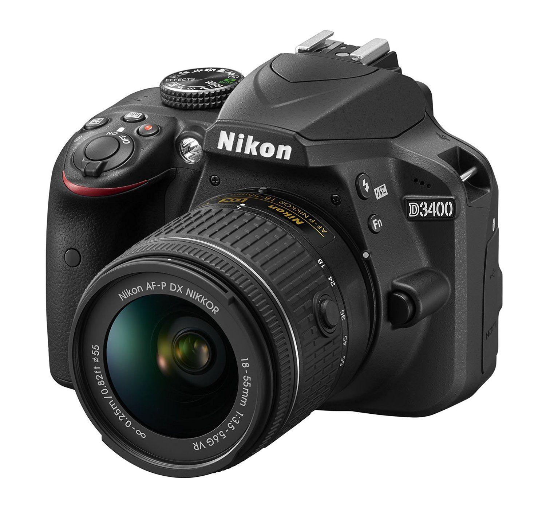 Buy Nikon D3400 24.2 MP Digital SLR Camera (Black) + AF-P DX Nikkor ...