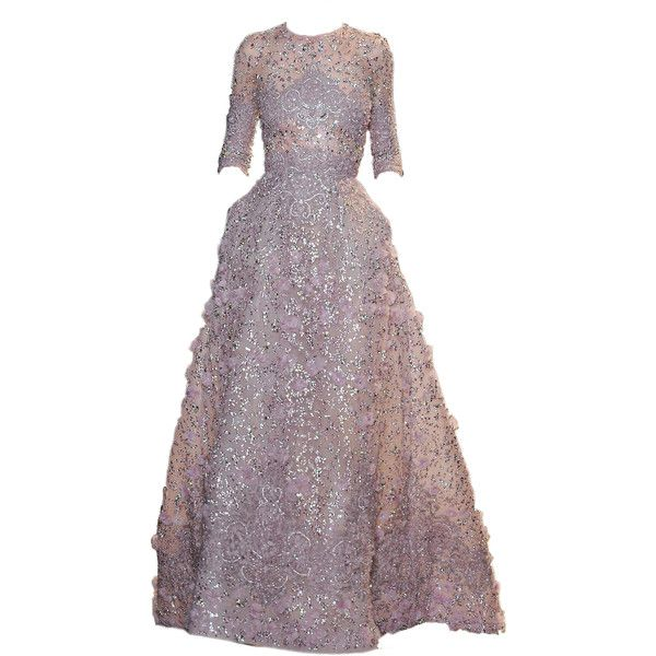 Voir une image - HostingPics.net ❤ liked on Polyvore featuring dresses, gowns, elie saab, gala, evening dresses, women dresses, purple ball gown, purple dress and evening gowns
