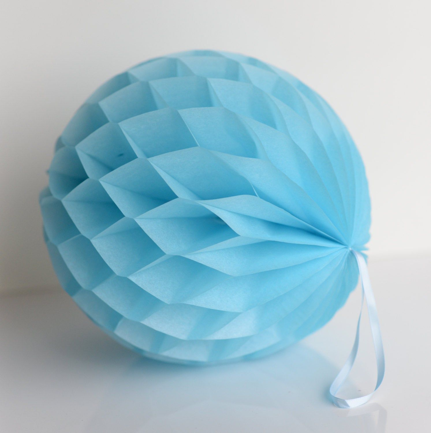 Lot of 3 Tissue Paper Honeycomb Ball Blue 4 8 12 Pom Pom Tissue Balls Made in USA Baby Shower Birthday Party Photo Shoot