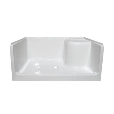 Lyons Industries Elite 48 In X 34 In Single Threshold Right Seated Shower Base In White Lebsr014834 T Acrylic Shower Base Shower Base Shower Base With Seat