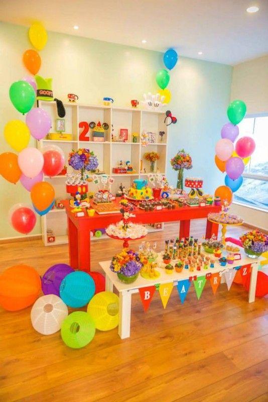 mickey mouse y sus amigos celebran con esta hermosa fiesta infantil u ideas para decoracion