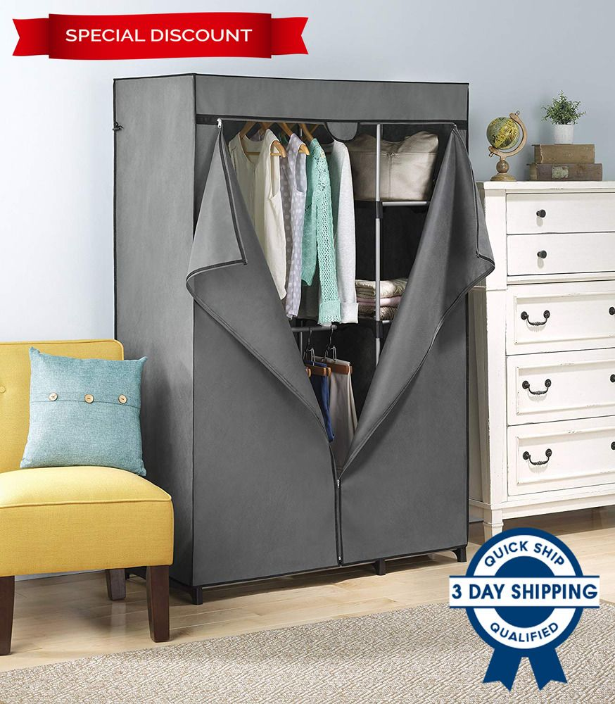 Rack Cover For Closet Storage Portable Wardrobe Clothes With Heavy