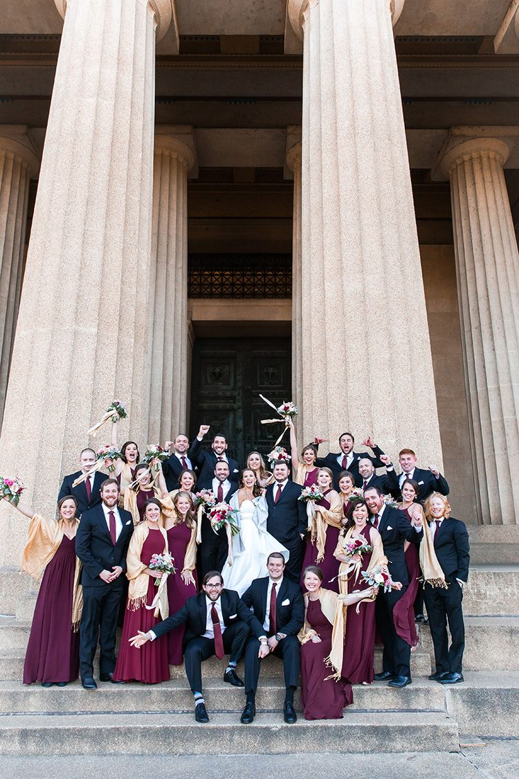 Fun New Year's Eve Wedding in Downtown Nashville Pink
