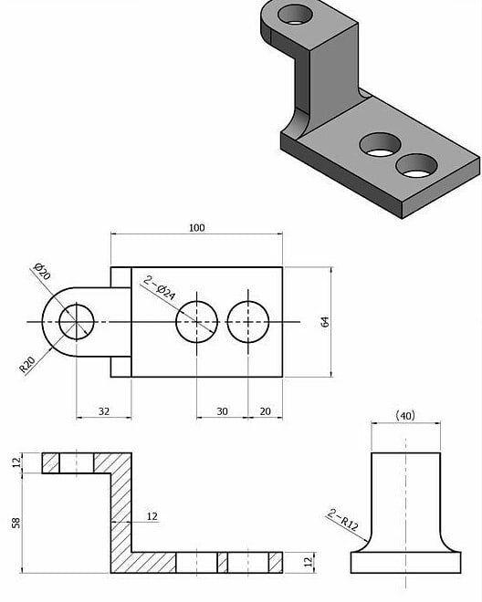 Pin By Creo Designer On Mashinostroenie In 2020 Autocad Isometric Drawing Isometric Drawing Drawing Exercises