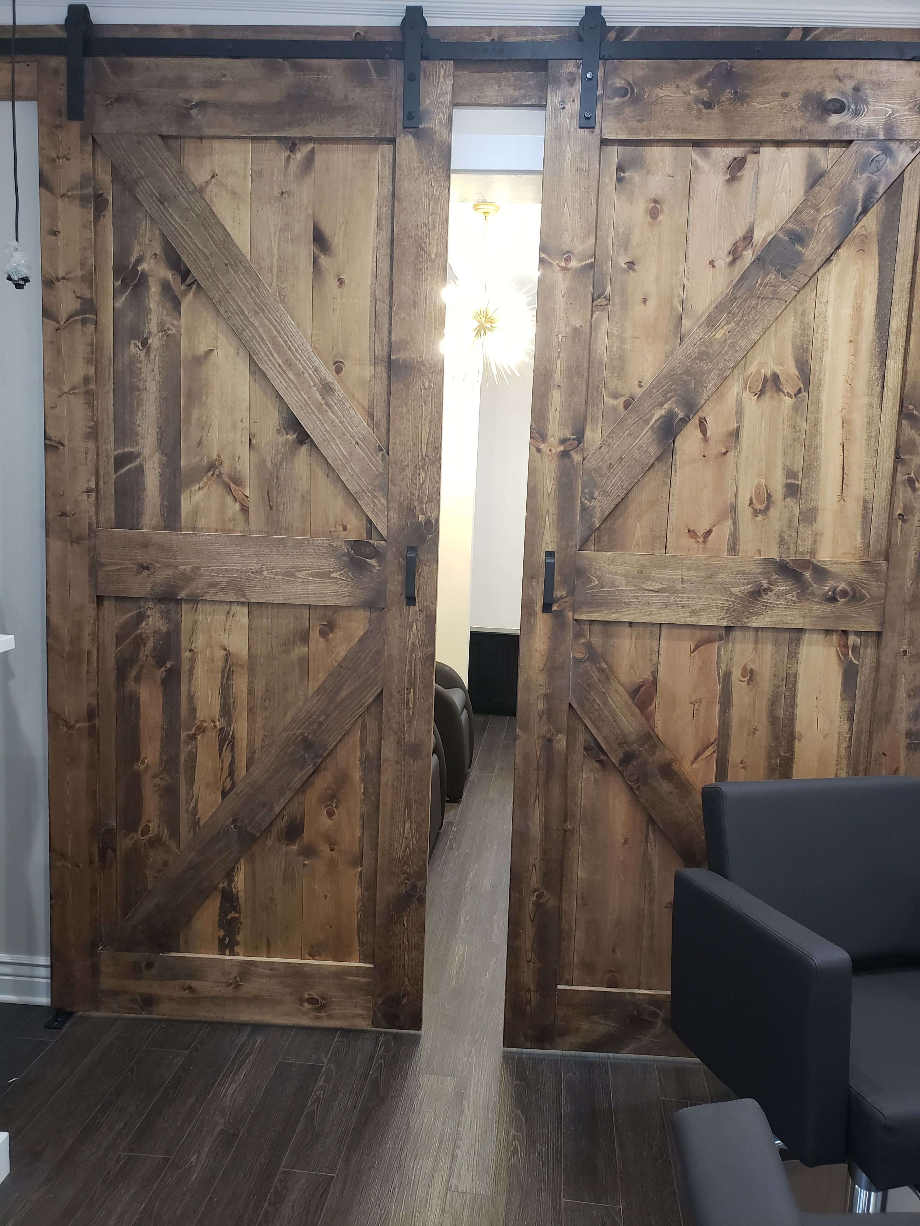two custom rustic industrial sliding barn door custom made on commercial office space paint colors id=75094