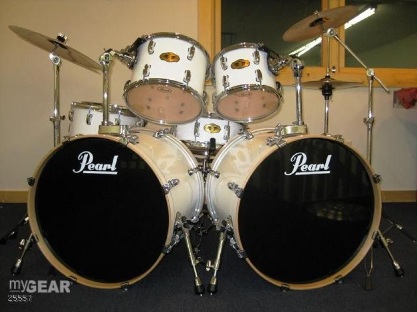 Drums 7 Piece White Pearl Drum Kit