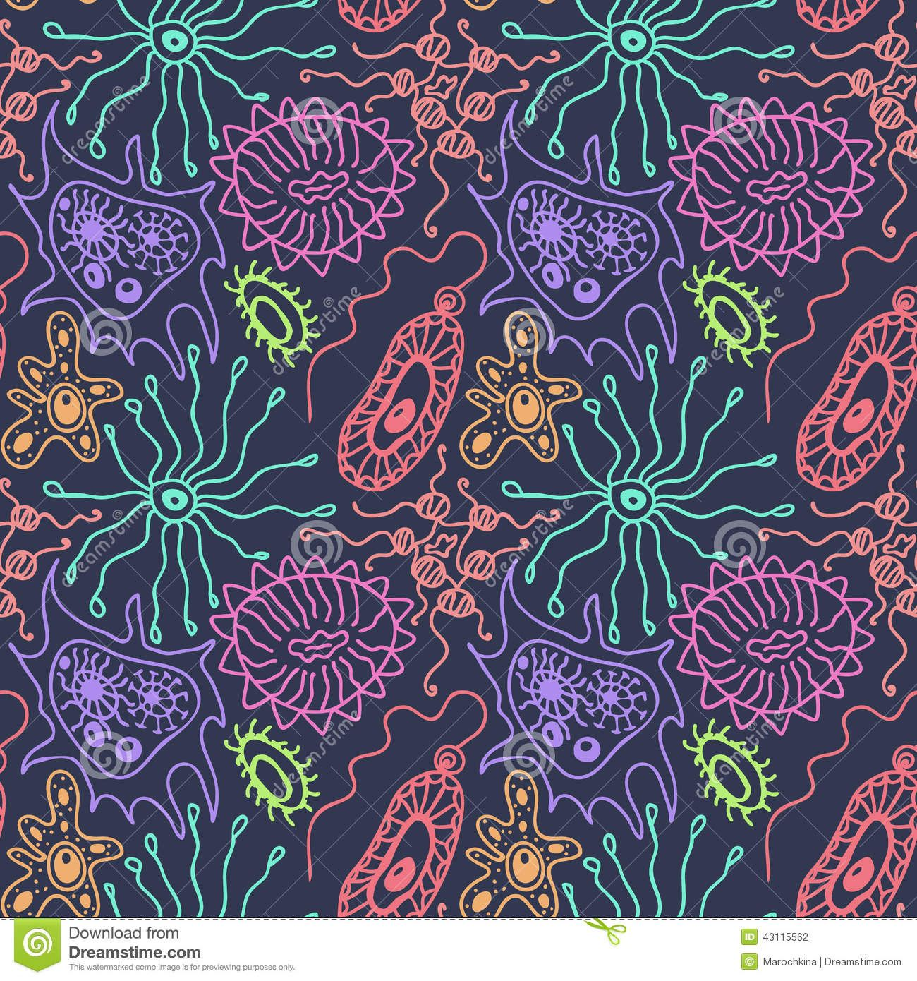 microbe pattern wallpaper - google search | illustrations