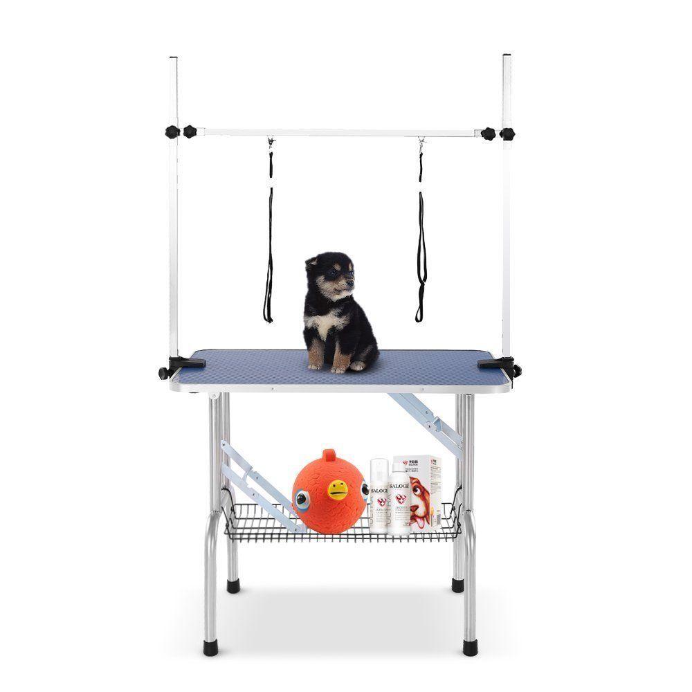Large Heavy Duty Pet Grooming Table w/Adjustable Overhead