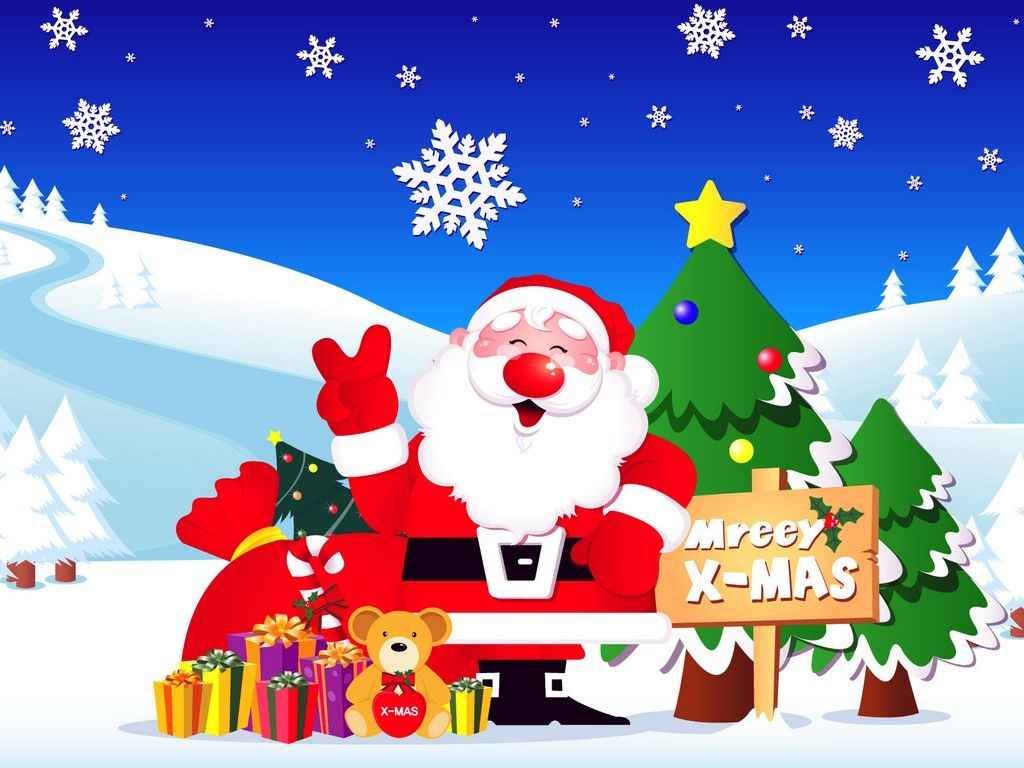 Merry Animated christmas clip art pictures