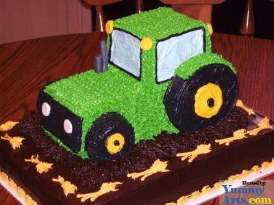 20 Cute Birthday Cake Ideas For Boys Tractor Birthday cakes and
