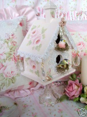 https://flic.kr/p/4B4o7r | Sweet n' Shabby Original Birdhouse | One of my Signature Sweet n Shabby Birdhouses.  Copyright 2007 Rhea Cominolo Sweet n Shabby Roses