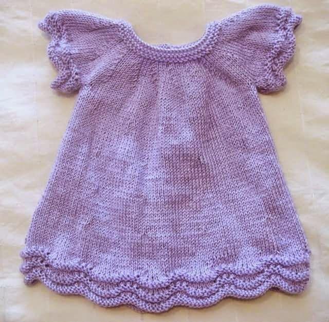 Labores montse vestidito bebe ropita bb pinterest - Labores de crochet para bebes ...