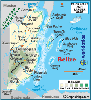 Belize Karte.Large Belize Map Map Of Belize Belize Map World Atlas