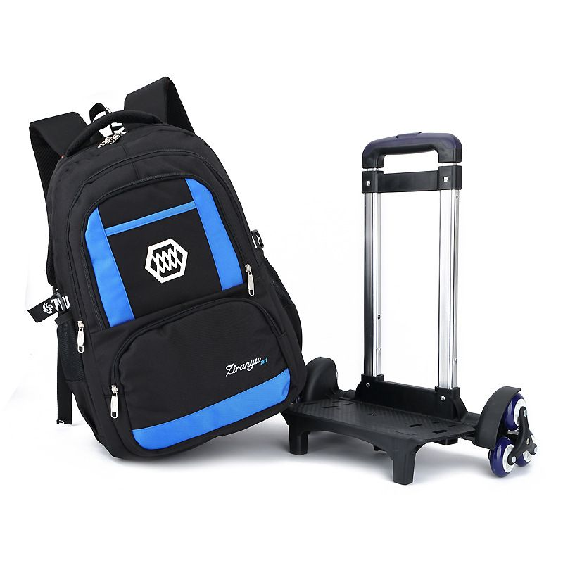 Casual Trolley Backpack Wheels School Books Children Kids Bag Shoulder  Backpack with Detachable for Boys grade class 2-5 middle  Affiliate b441ea2949