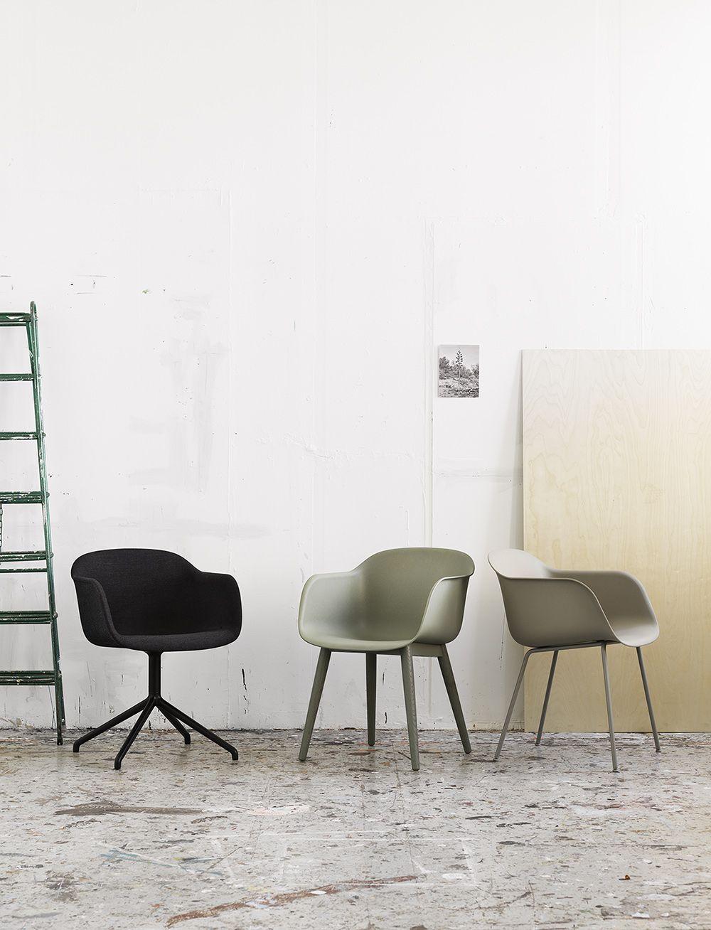 Muuto fiber armchair wood base scandinavian dining area and interiors