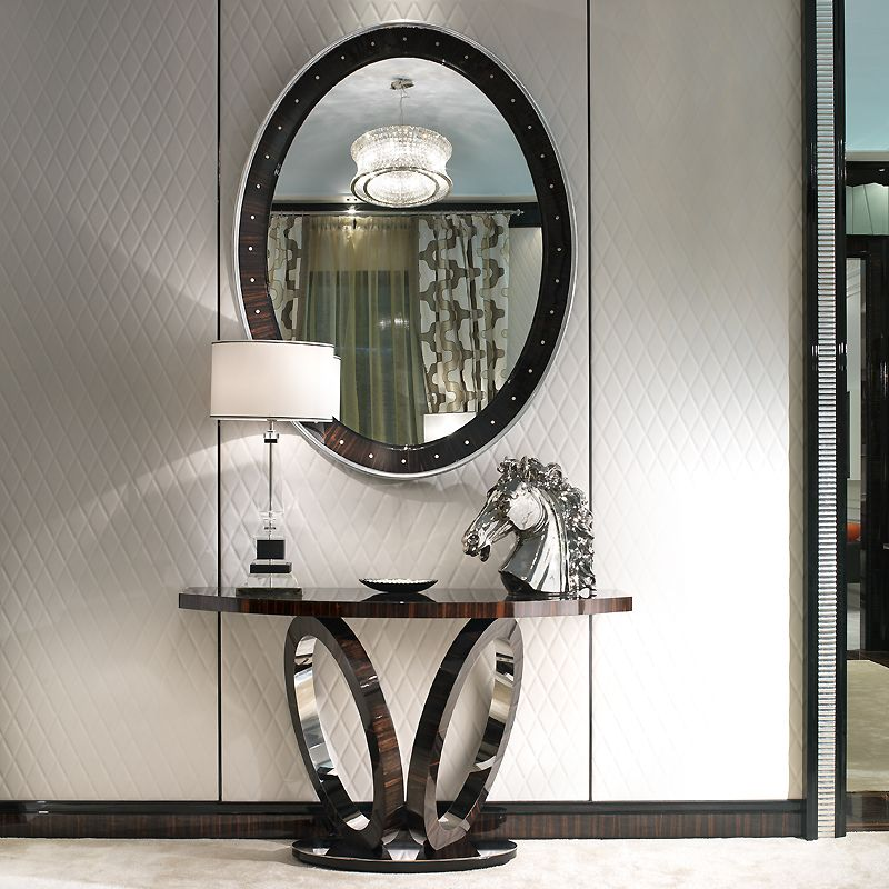 Nice ELLIPTICAL MACASSAR EBONY CONSOLE TABLES | Taylor Llorente Furniture