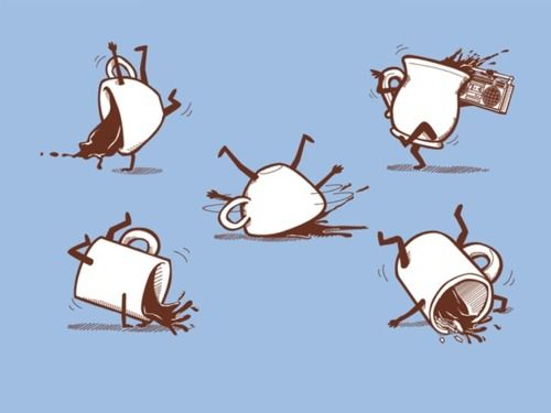Coffee break dancing....so silly, I know!