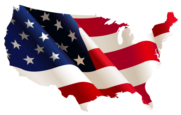 Usa Flag Map Png Clipart Flag Flag Decal Flag Vector