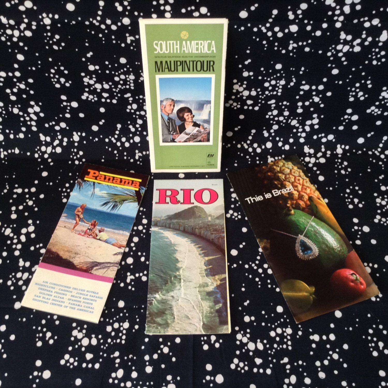 70ssouth americatravel brochuresset of 4riopanama