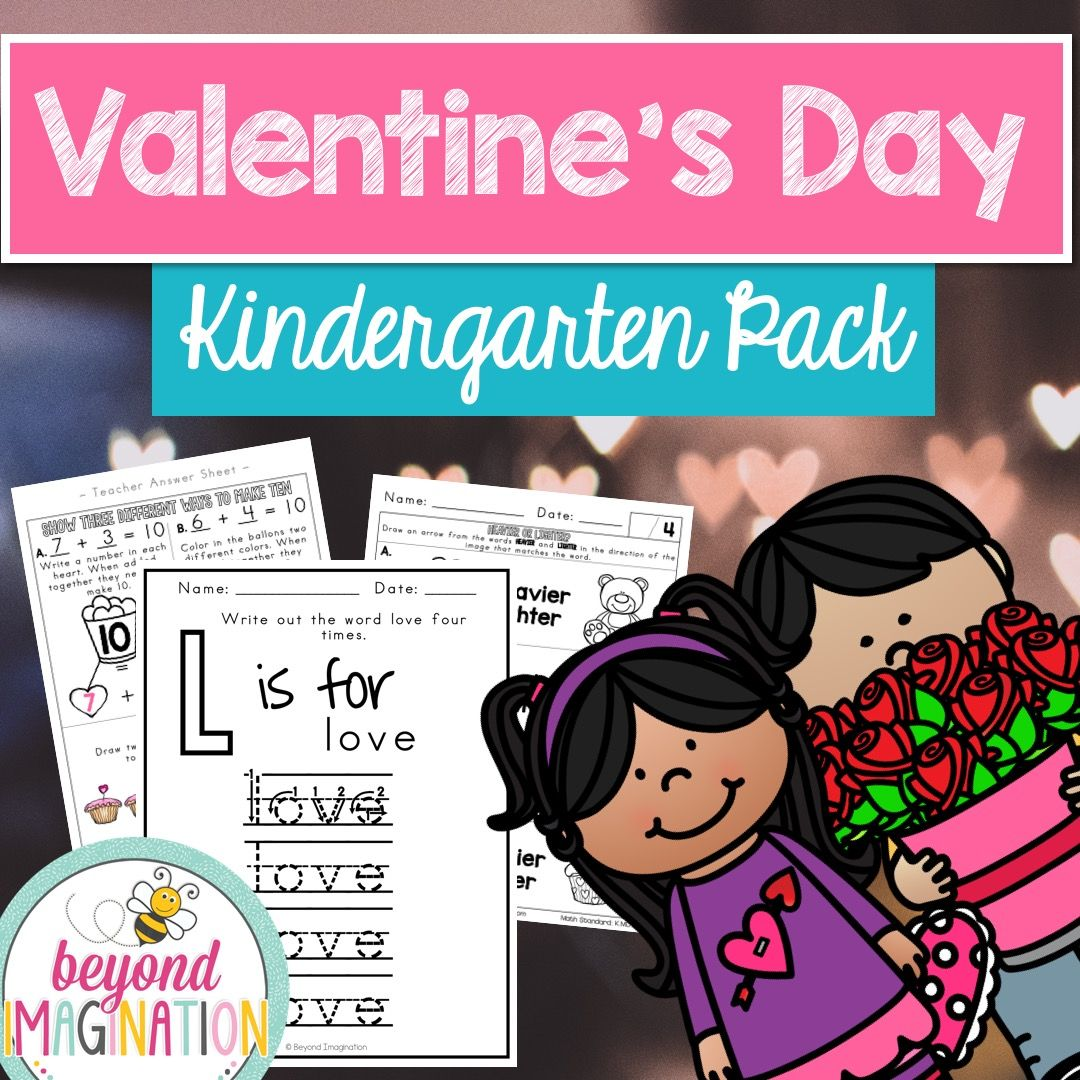 Valentine S Day Math And Literacy Centers Kindergarten