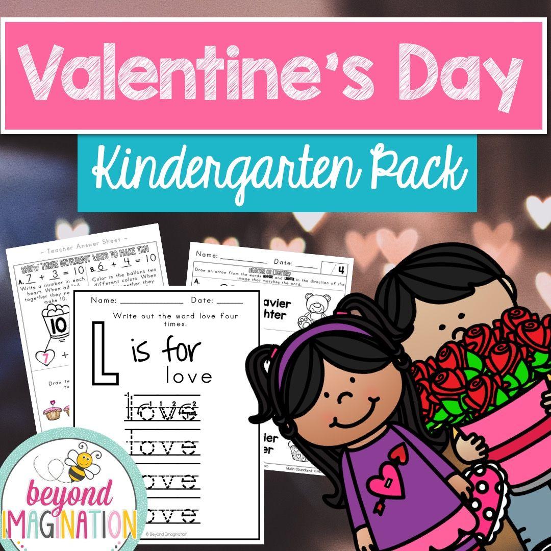 Valentine S Day Math And Literacy Centers Kindergarten