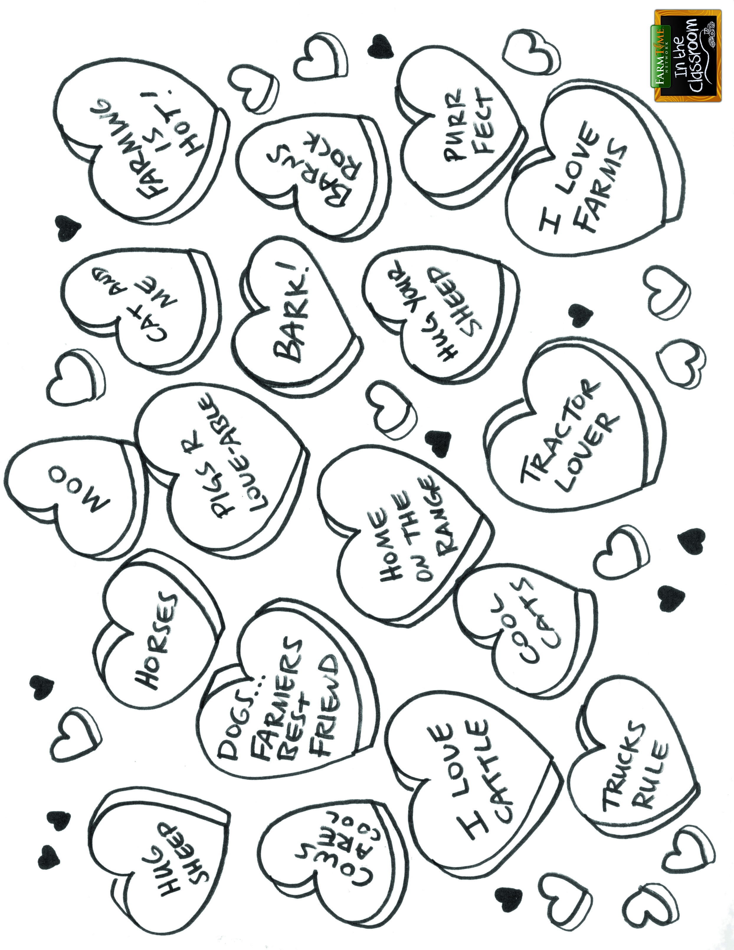 Valentines Day Free Coloring Page