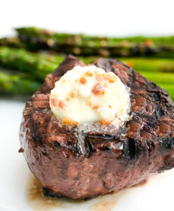 Bacon Blue Cheese Butter on Grilled Steak, Baked Potatoes, Vegs Steamy Kitchen Recipes This Blue Ch