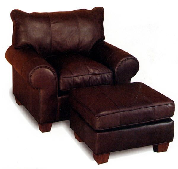 Oversize Leather Chair And Ottoman From Wellington S