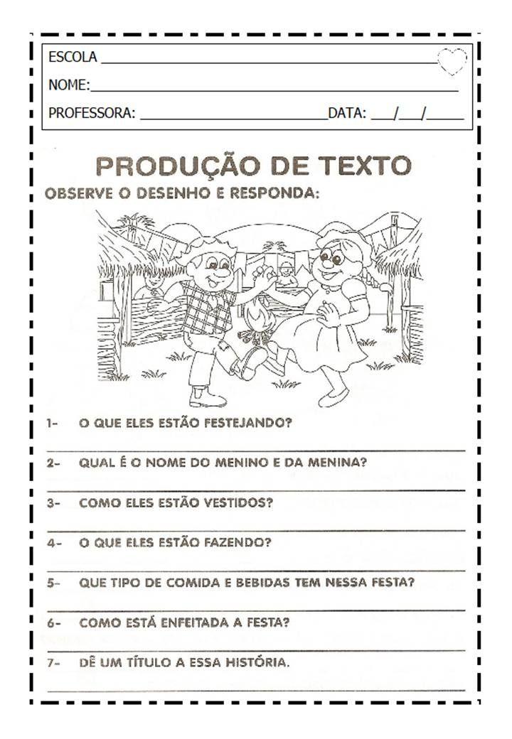 Festa Junina 11 Jpg 720 1040 Atividades De Producao Textual