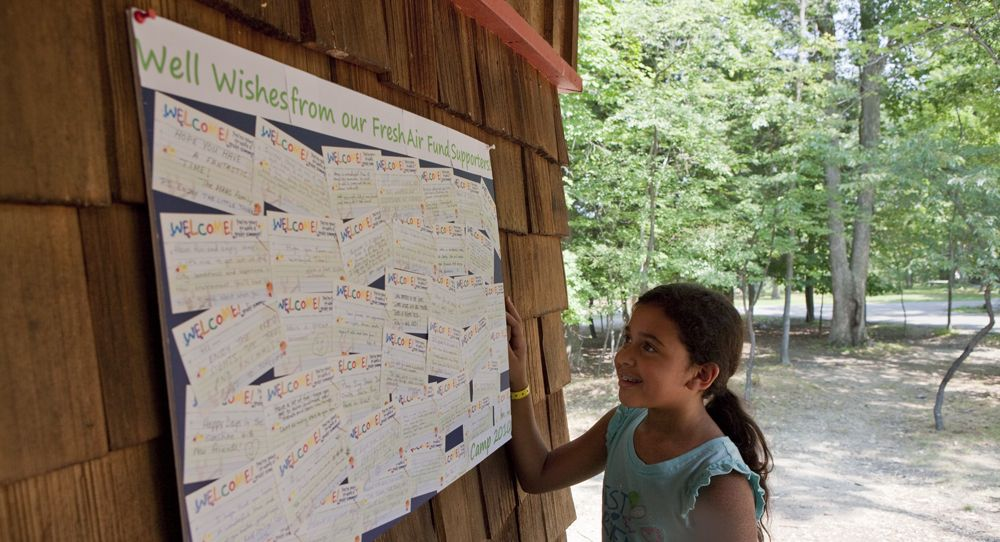 ABC Camper reads some 'Well Wishes from Fresh Air Fund
