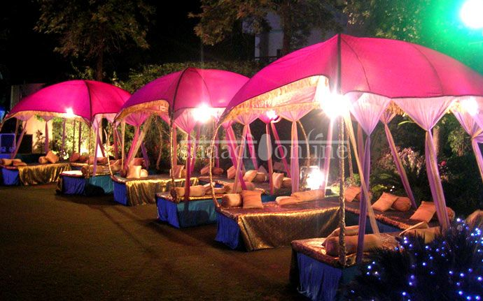 Sangeet could have wedding and reception in nearly same for Outdoor party tent decorating ideas