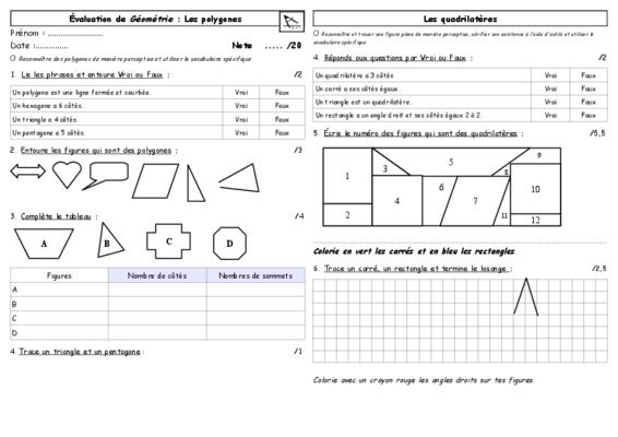 Polygones Evaluation Cm1 Pdf Notice Manuel D Utilisation Evaluation Cm1 Cm1 Maths Cm1