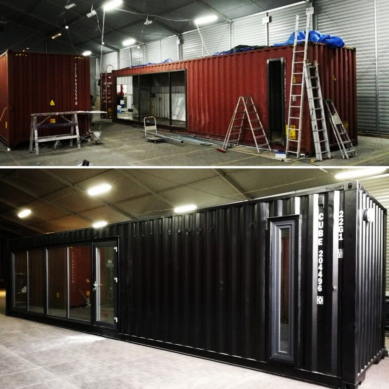 Adaptacjekontenerow Flexicube Kontenermorski Przerabianiekontenerow Kontener Shipingcontainers Shipingcontainer Container Showroom Basketball Court
