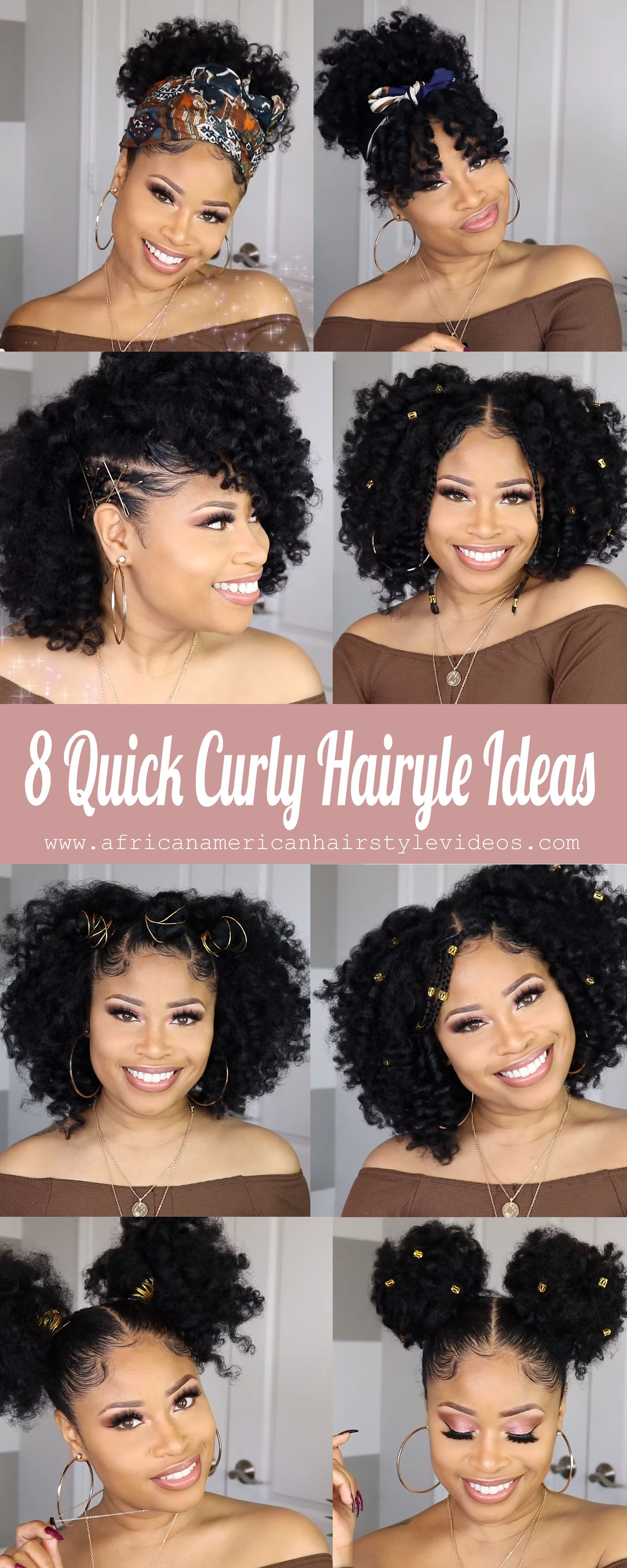 8 Trendy Style Ideas For Curly Natural Hair Tips Tricks African American Hairstyle Videos Aahv Curly Hair Styles Naturally Natural Hair Styles Curly Hair Styles