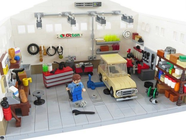 Even Lego Cars Need A Tune Up From Time To Time Lego Pinterest