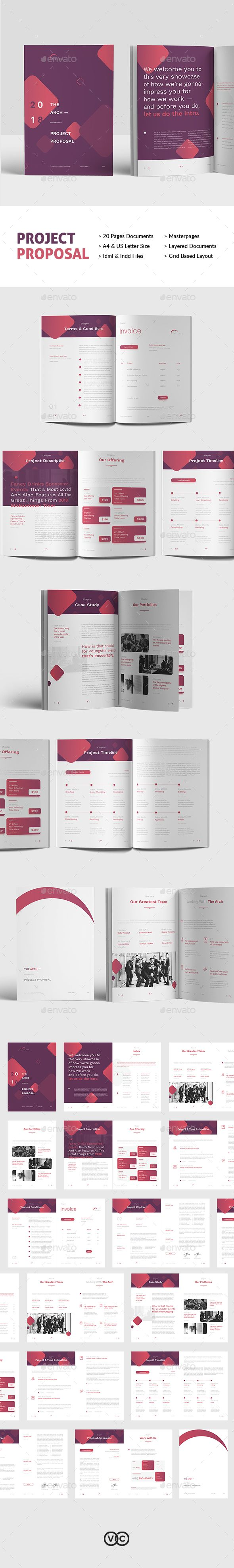project proposal is editorial layout template with 20pp indesign