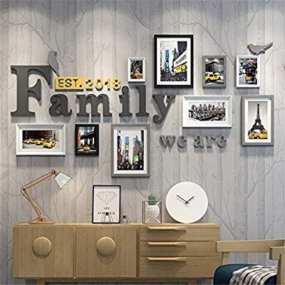 GUOCAIRONG® Rahmen Foto Wand Kombination Massivholz Fotowand Bilderrahmen  Wand Wohnzimmer Einfach Modern Europäischer Stil Dekorative