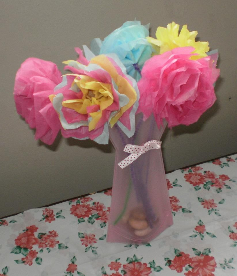 Flowers Made Out Of Tissue Paper Crafts Pinterest Tissue Paper