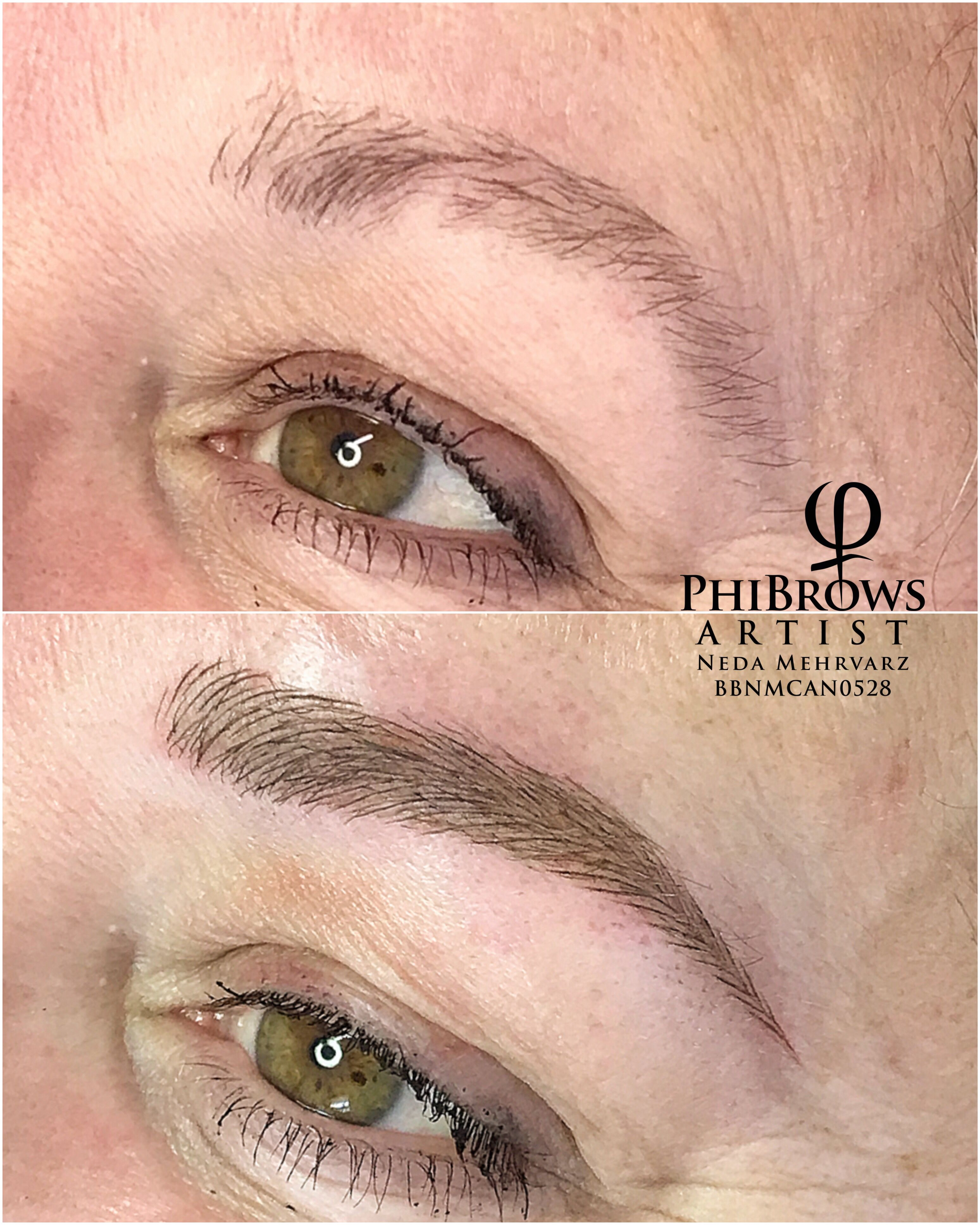 Microblading transformation by Neda Mehrvarz
